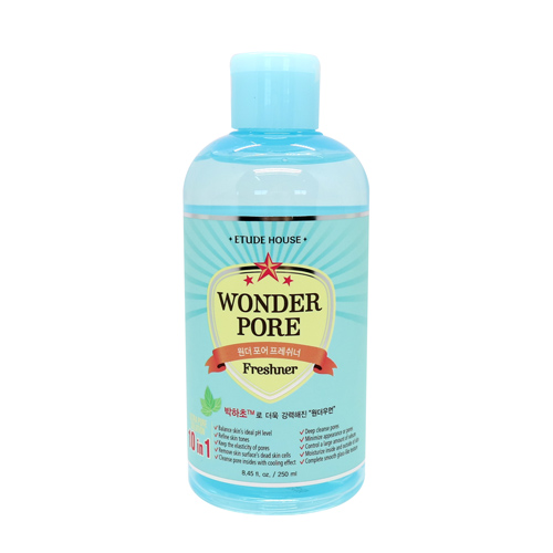[Etude house] Очищающий тонер Wonder Pore Freshner, 250ml, Facial Cleansers, (10 в 1, Сужение расширенных пор)