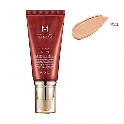 [Missha] ВВ крем M Perfect Covering BB Cream SPF42 PA+++,No.21 Light Beige (Blemish coverage and Power Long Lasting) the best Seller in global  50ml