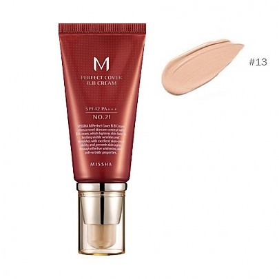 [Missha] M Pefect Covering BB Cream SPF42 PA+++ , No.13 Bright Beige (Blemish coverage and Power Long Lasting) the best Seller in global  50ml