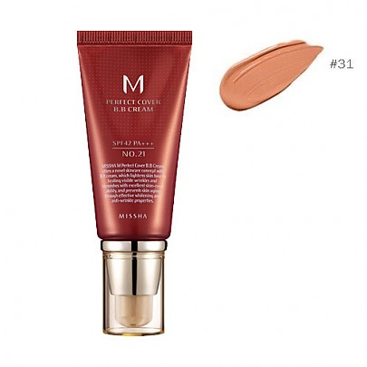 [Missha] ВВ крем M Perfect Covering BB Cream SPF42 PA+++,No.31 Golden Beige (Blemish coverage and Power Long Lasting) the best Seller in global  50ml
