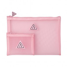 [3 Concept Eyes]  Косметичка Pink Rumour Mesh Pouch