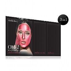[double dare] Платиновая 3-х ступенчатая маска-плёнка OMG! Platinum Hot Pink Facial Mask Kit