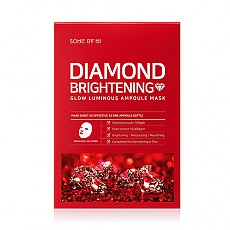[SOME BY MI] Успокаивающая и осветляющая маска Diamond Brightening Calming Glow Luminous Ampoule Mask 10ea