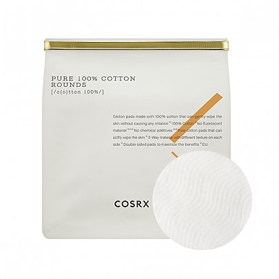 [COSRX] Pure 100% Cotton Rounds 80ea