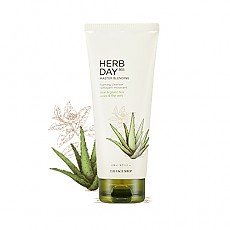 [THE FACE SHOP] Herbday 365 cleansing foam Aloe&Green Tea