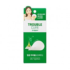 [Acropass] Патчи против акне Trouble Cure (skin cleanser 6шт+trouble cure 6 патча)