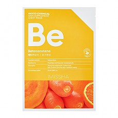[Missha] PHYTO-CHEMICAL SKIN SUPPLEMENT SHEET MASK Betacarotene 25ml